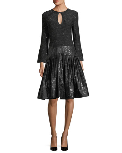 Jacquard Metallic Pleated Party Skirt and Matching Items