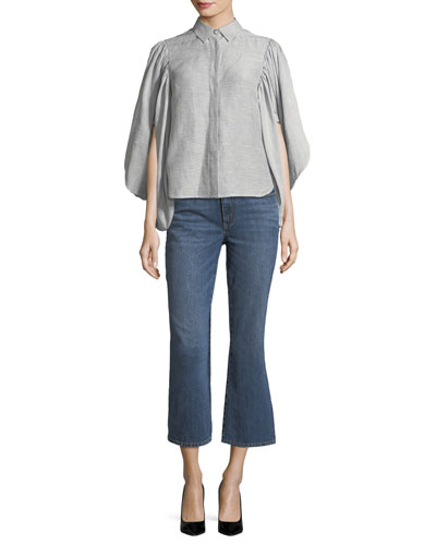 Mid-Rise Cropped Boot-Cut Jeans and Matching Items
