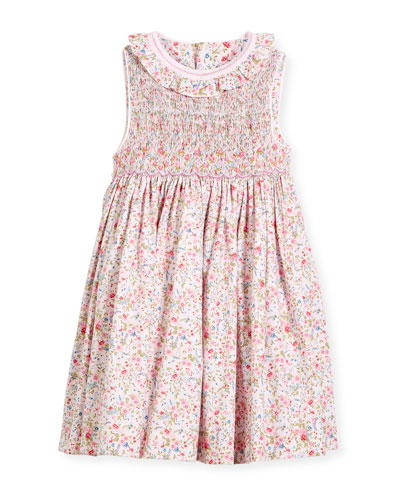 Floral Sleeveless Smock Dress, Size 2-4T  and Matching Items