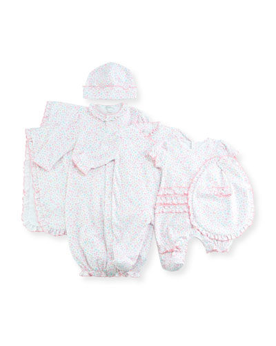 Dina Darlings Ruffle Footie Pajamas, Size Newborn-9M  and Matching Items
