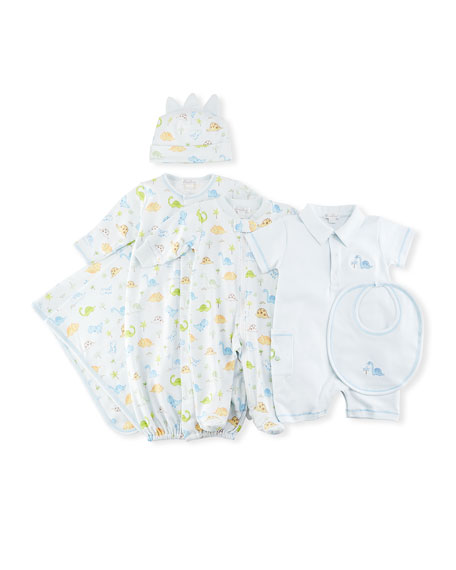 Dino Dudes Convertible Pima Sleep Gown, Size Newborn-Small