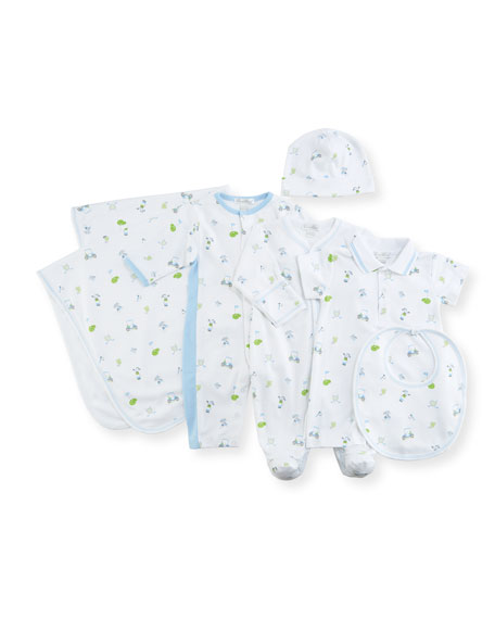 Daddy's Caddy Print Pima Footie Playsuit, Size Newborn-9M