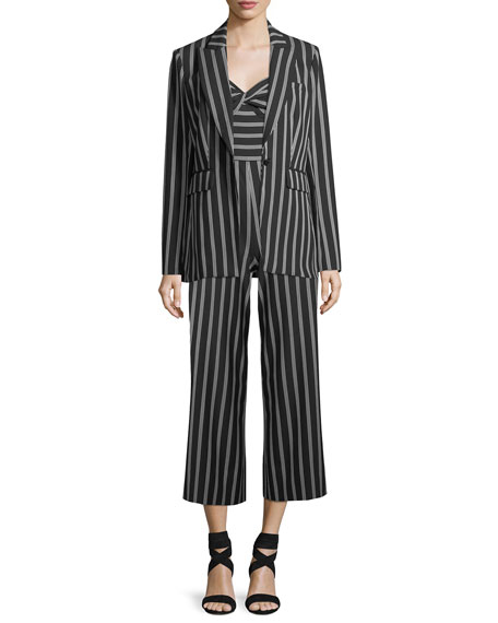 Cypress Strapless Striped Wide-Leg Jumpsuit