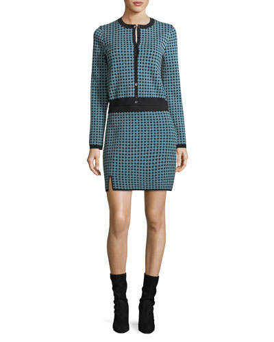 Monogram Jacquard Button-Front Cardigan and Matching Items