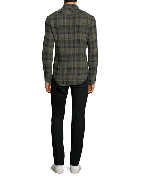 Men's Fit 3 Base Herringbone Wool-Blend Shirt