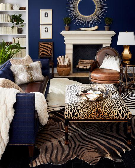 Ivory Mink Faux Fur Accent Pillow