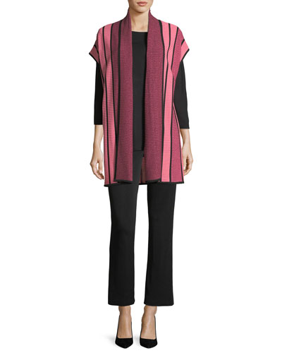 Three-Quarter-Sleeve Top, Plus Size and Matching Items