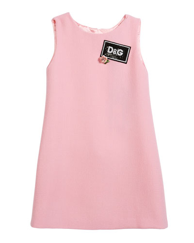 Sleeveless Crepe Dress w/ Sequin Logo, Size 8-12  and Matching Items