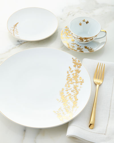 Vegetal Gold Salad Plate and Matching Items