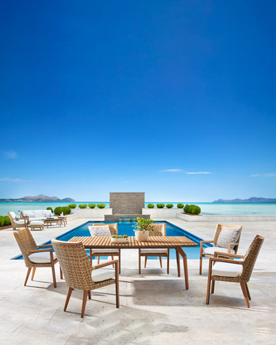Cote d'Azure Rectangle Dining Table  and Matching Items