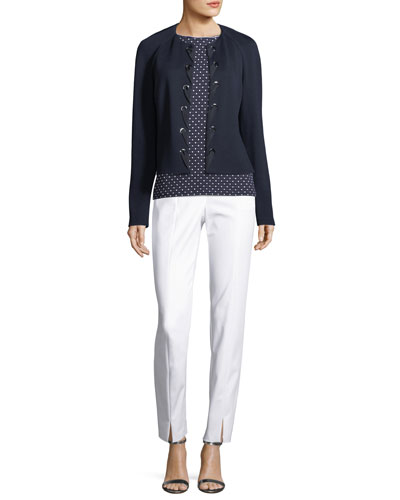 Milano Knit Laced-Front Jacket  and Matching Items
