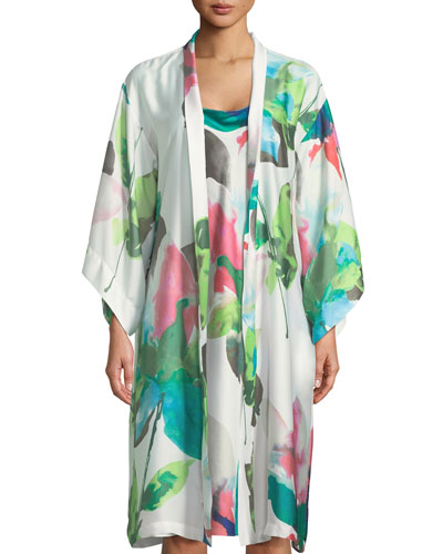 Water Lily Satin Robe and Matching Items