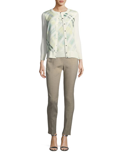 Summer Bella Double-Weave Skinny Pants  and Matching Items