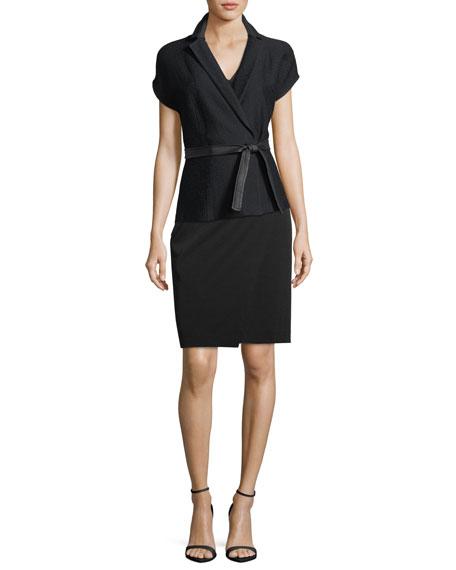 Hannah Self-Tie Short-Sleeve Jacket