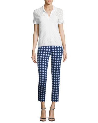 Gingham Stretch Capri Pants and Matching Items