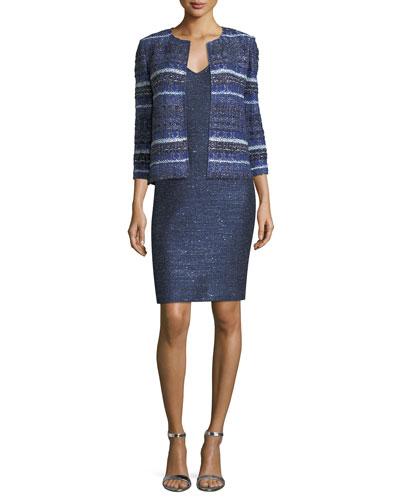 Encased Sparkle Knit V-Neck Cocktail Dress and Matching Items
