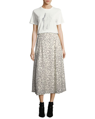 Printed Fluid A-Line Maxi Skirt and Matching Items