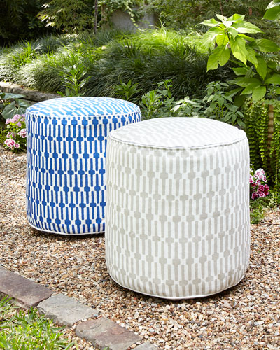 Links Pouf Ottoman, Cobalt  and Matching Items