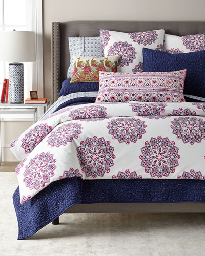 Queen 3-Piece Dyed Indigo Voile Coverlet Set and Matching Items