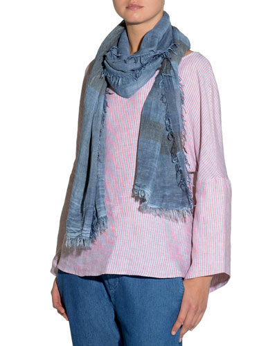 Striped Fringed-Trim Scarf and Matching Items