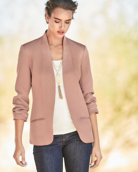 Corded Tencel® Simple Blazer