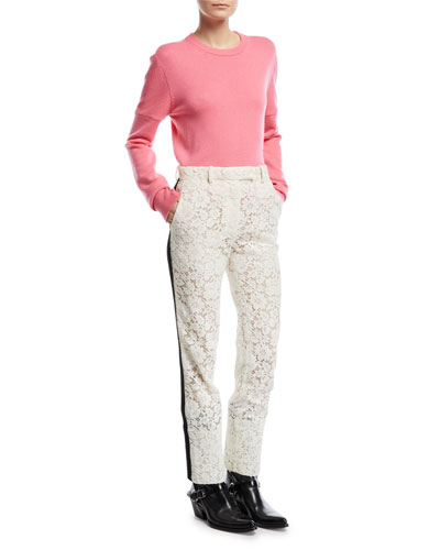 Lace Tuxedo-Stripe Pants and Matching Items