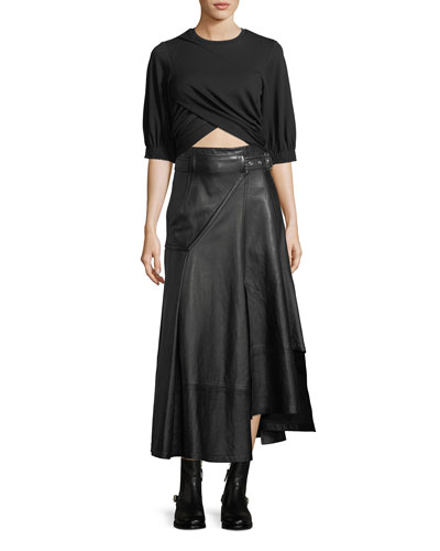 Utility Long Leather Skirt and Matching Items