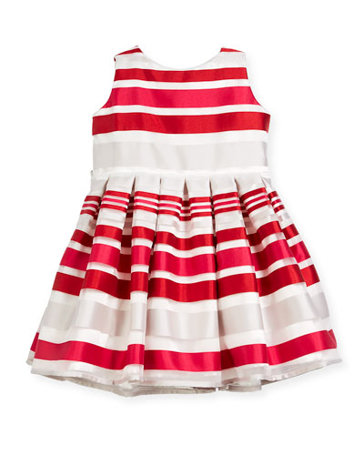 Satin Stripe Dress  Size 12-18 Months  and Matching Items