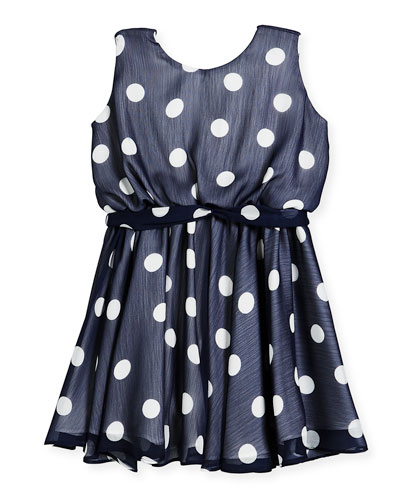 Sleeveless Polka-Dot Dress, Size 7-14  and Matching Items