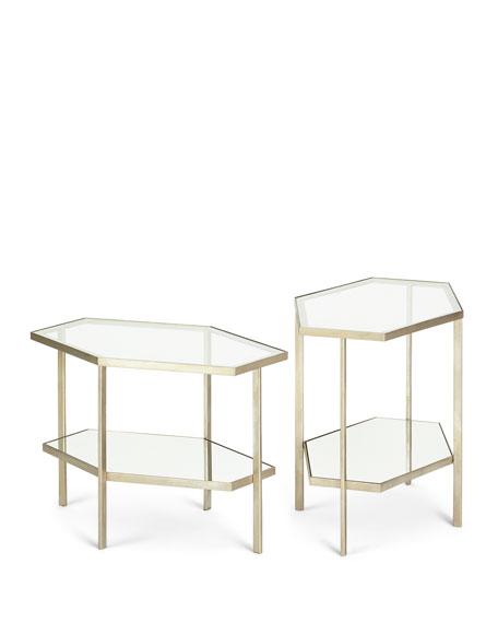 "Valeria Hexagon Side Table, 18""T"