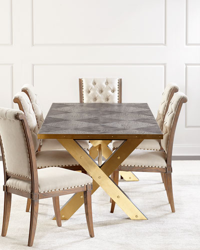 Pair of Gianna Tufted Dining Chairs  and Matching Items