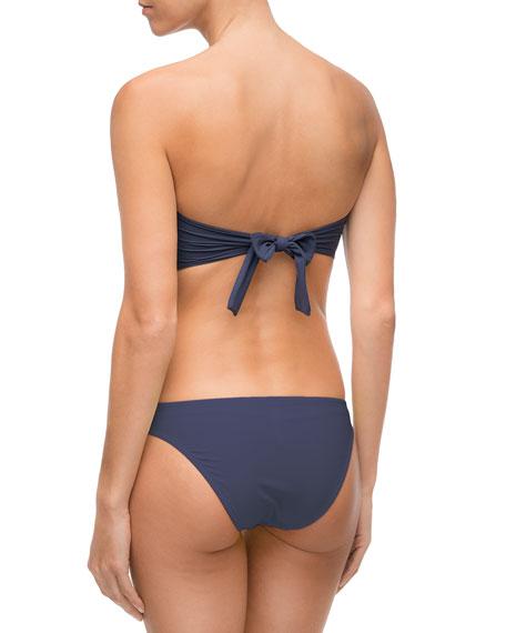 Elegance à Bord Soft-Cup Solid Bandeau Swim Top