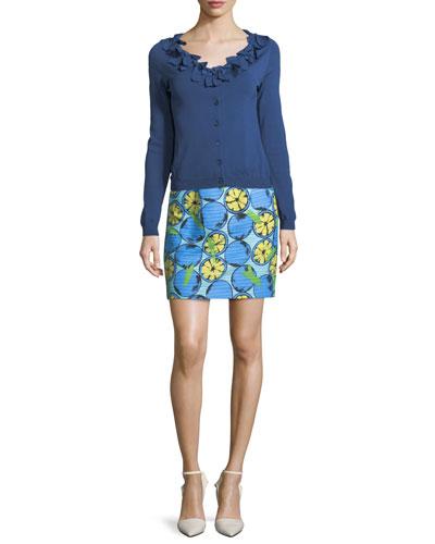 Lemon-Print Cotton Skirt and Matching Items