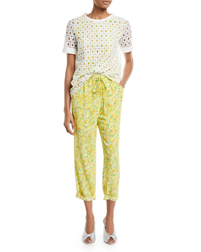 Lemon-Print Crop Pants and Matching Items