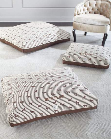 Small Ticking Envelope Dog Bed