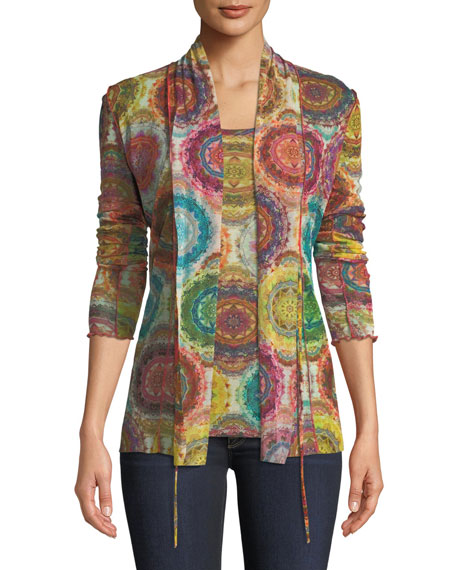 Kaleidoscope Self-Tie Cardigan