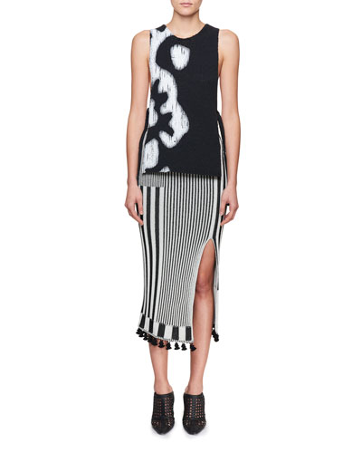 Spire High-Waist Graphic Stripe-Knit Midi Skirt and Matching Items