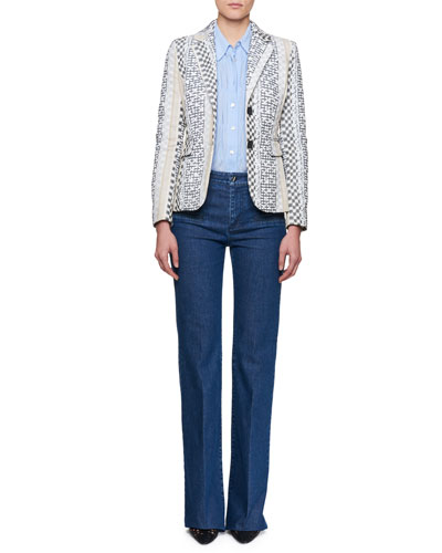 Fenice Striped Jacquard Blazer and Matching Items