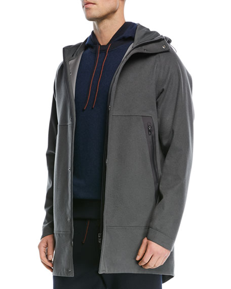 Shieldly Cashmere Storm System® Parka with Attached Hood