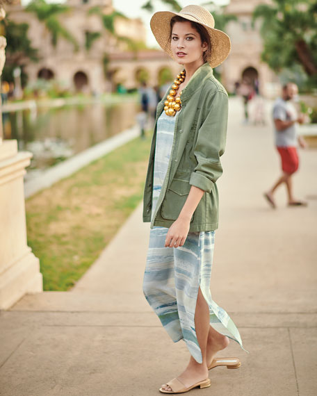 Modern Cotton-Blend Utility Jacket