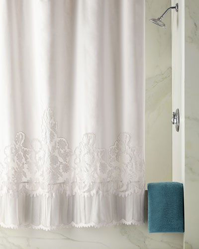 Caprice Shower Curtain, White  and Matching Items