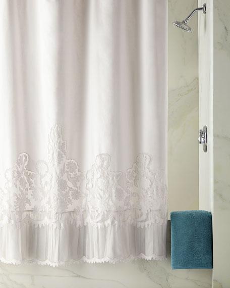 Caprice Shower Curtain, Cloud