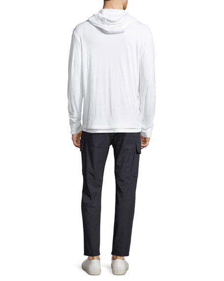 Double-Layer Pullover Hoodie