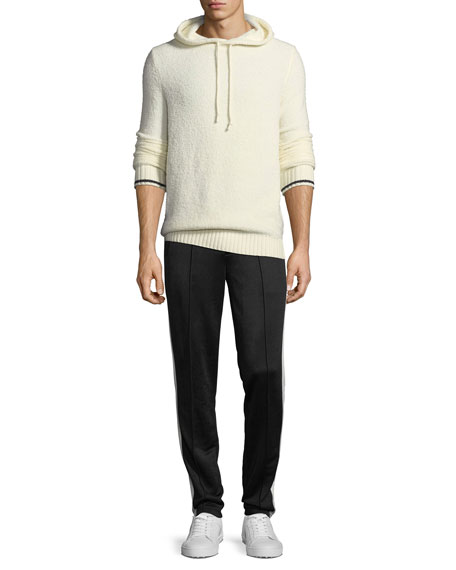 Wool-Blend Pullover Hoodie