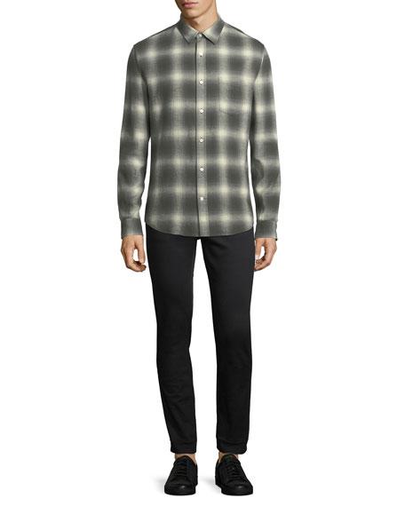 Shadow Plaid Long-Sleeve Shirt