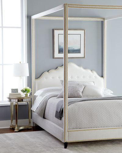 Athena King Canopy Bed  and Matching Items