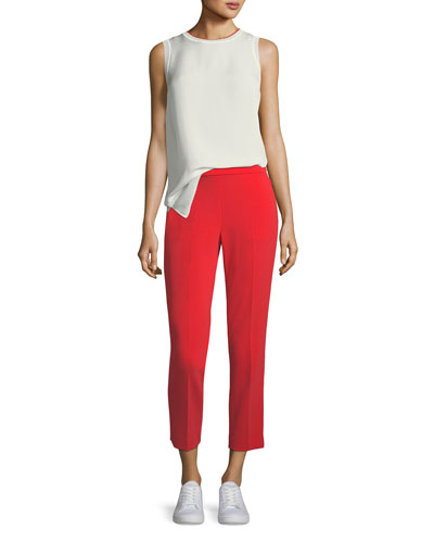 Admiral Crepe Straight-Leg Basic Pull-On Pant and Matching Items
