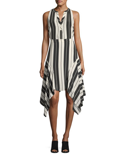 Aruna Sleeveless Striped Silk Top and Matching Items