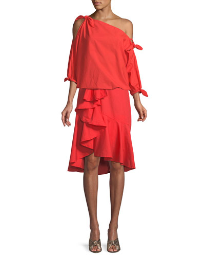 Chesmu Poplin Ruffle Skirt and Matching Items
