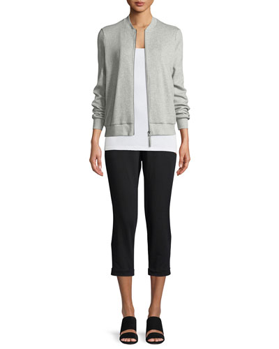 Jersey Slouchy Cropped Pants, Petite   and Matching Items